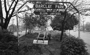 Barclay Park under construction
