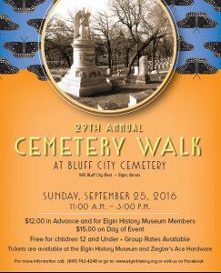 2016 Cemetery Walk Cover