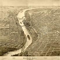 Map Of Elgin 1895