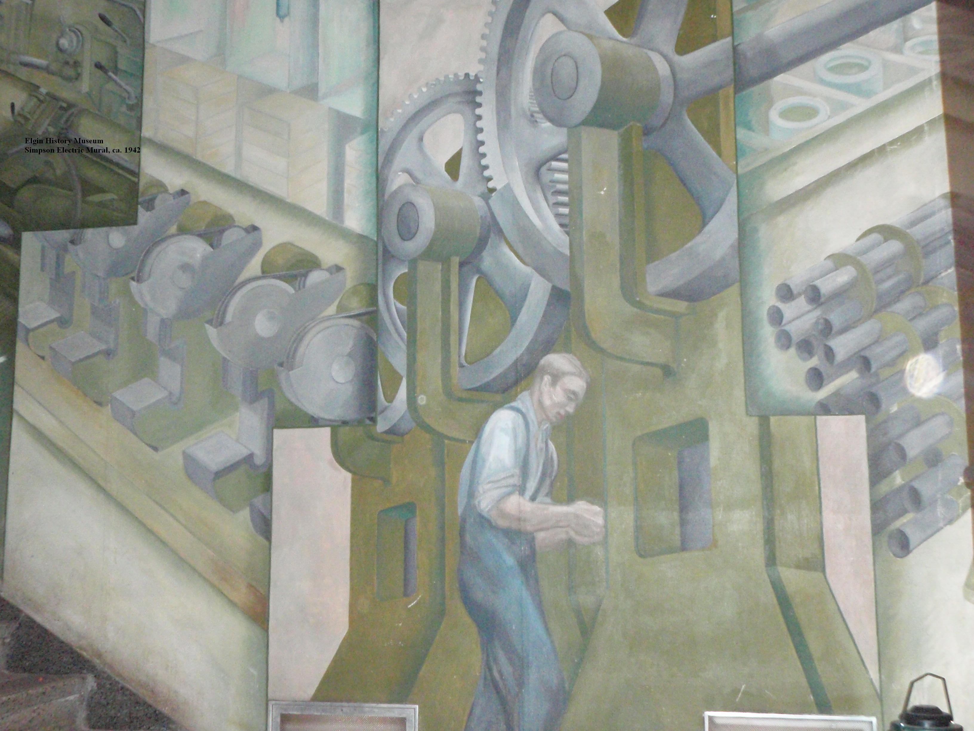 Simpson mural