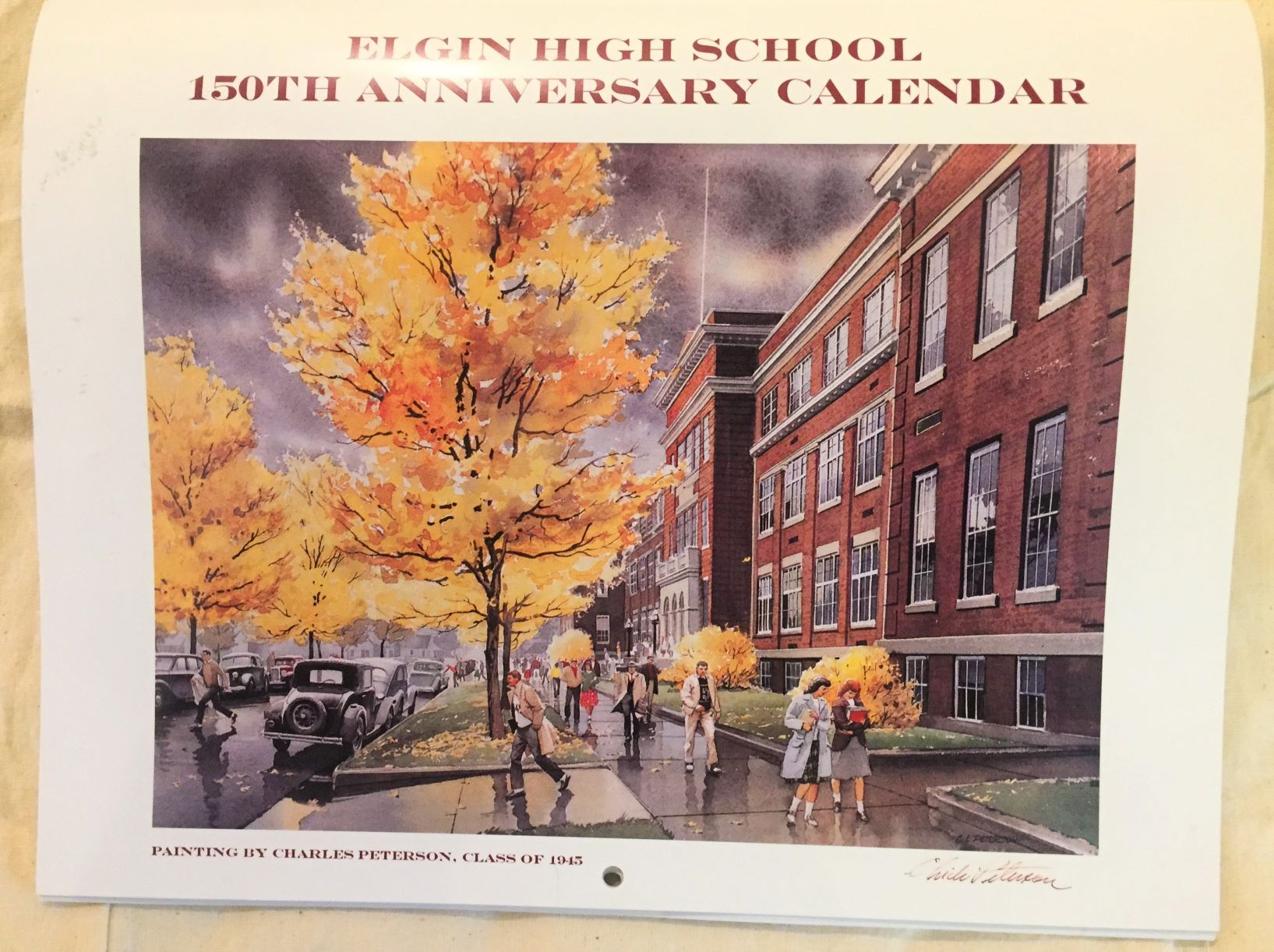 Elgin High 150th Anniversary Calendar