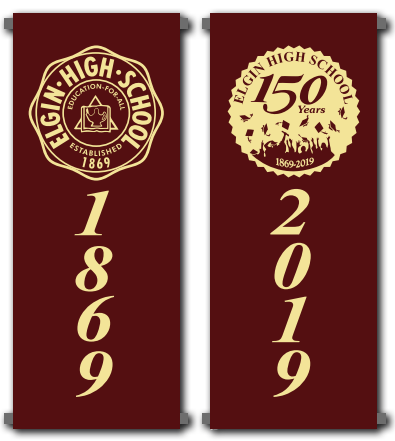 Elgin High School 150th Banners