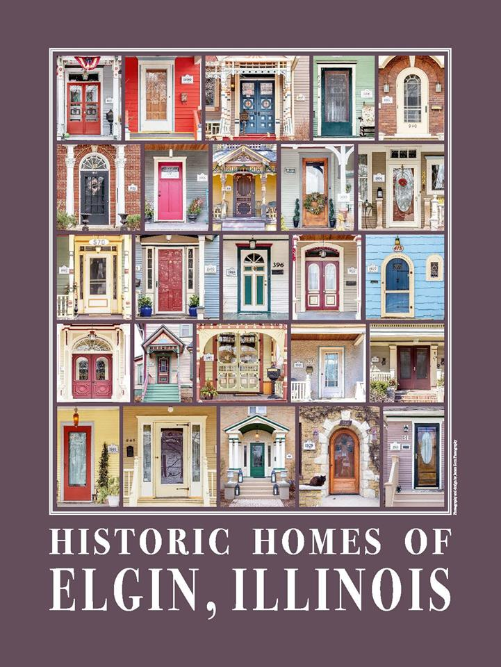 Historic Homes of Elgin, Illinois Poster