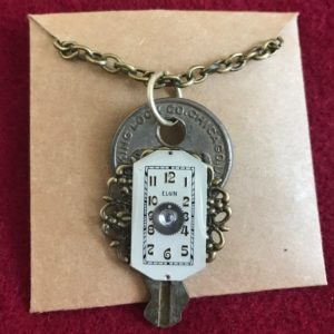 Elgin watch Necklace with key