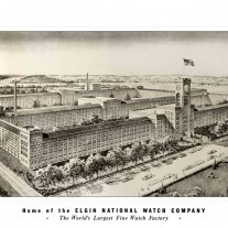 Elgin Watch Factory Drawing Small